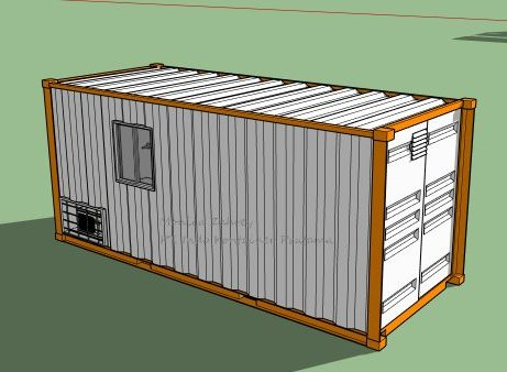 jual container office 20 feet